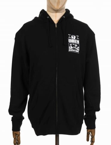 Belief Zip Hooded Sweat - Black