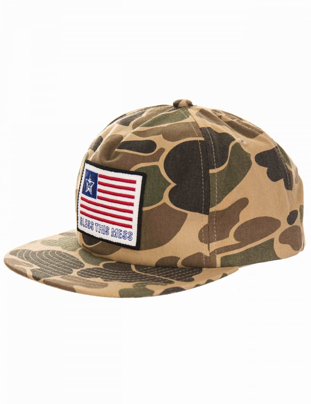 6630d4e10a3 Obey Clothing Bless Snapback Hat - Camo - Accessories from Fat ...