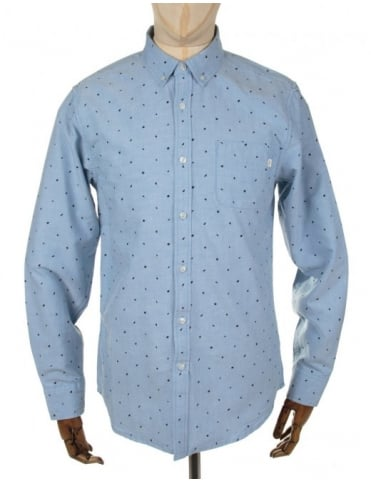 Obey Clothing Boyle Woven Shirt - Light Blue