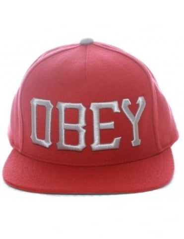 Obey Clothing Cedar Snapback Hat - Burgundy
