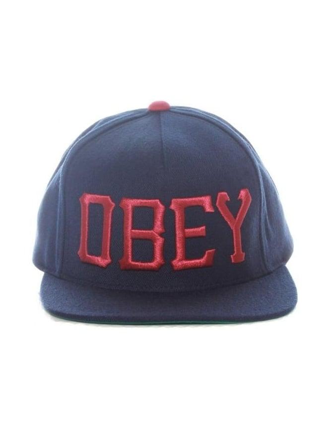 Obey Clothing Cedar Snapback Hat - Navy