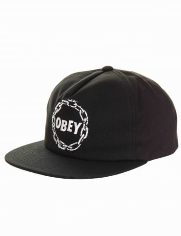 Obey Clothing Chains Snapback Hat - Black