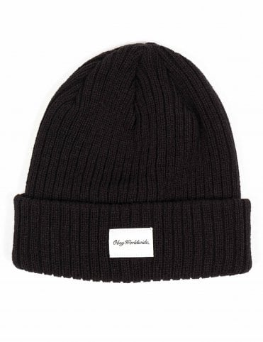 Obey Clothing Churchill Beanie Hat - Black f8b2bbe2e565