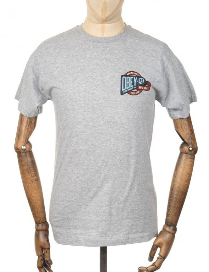 Obey Clothing Co. Worldwide T-shirt - Heather Grey