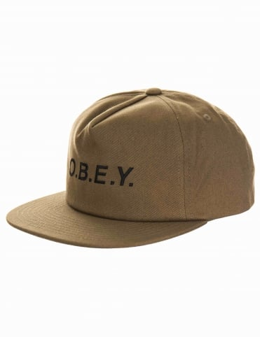 Obey Clothing Contorted II Snapback Hat - Army Green