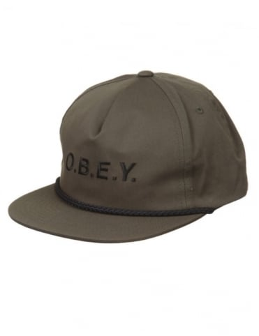 Obey Clothing Contorted Snapback Hat - Army