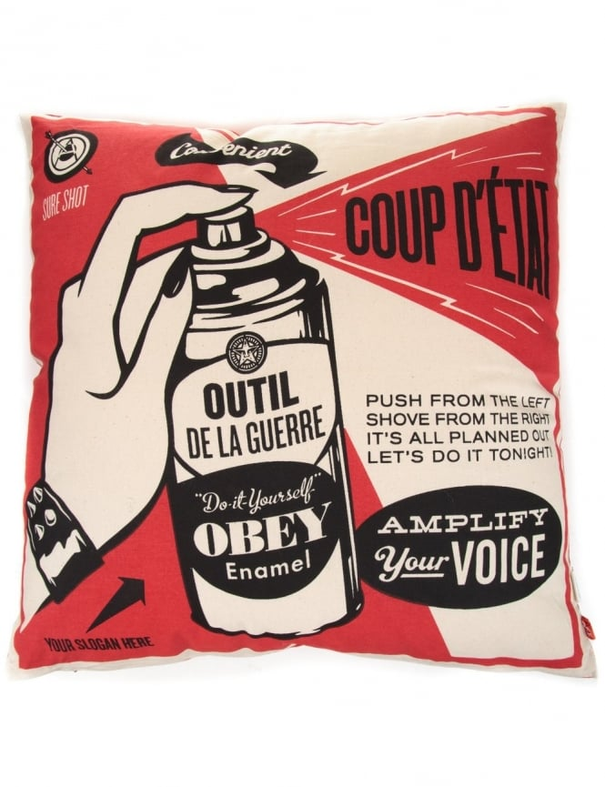 Obey Clothing Coup D'etat Cushion - Red