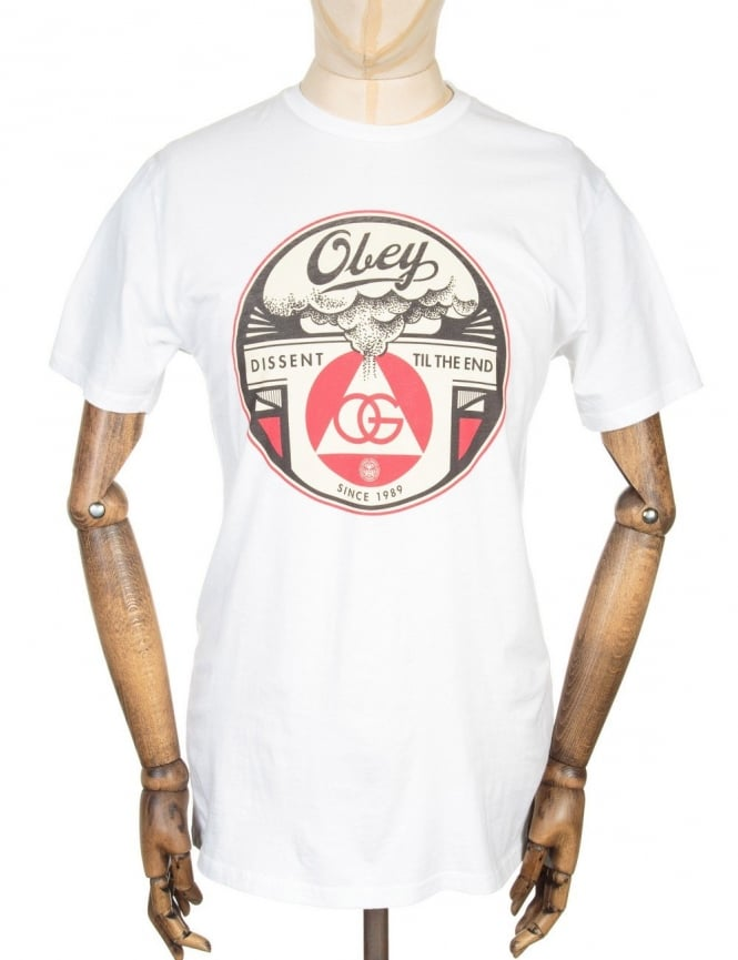 Obey Clothing Dissent Till The End T-shirt - White