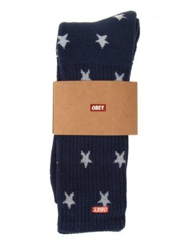 Obey Clothing Freeman Socks - Navy