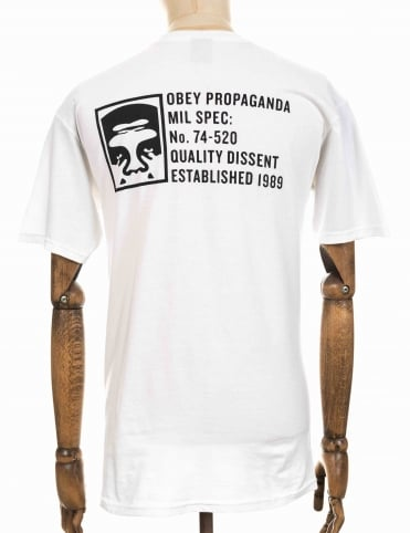 Obey Clothing Half Face Military Spec Tee - White