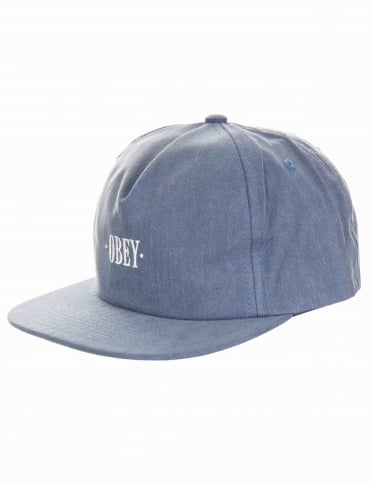 Hey Man Snapback Hat - Indigo Blue