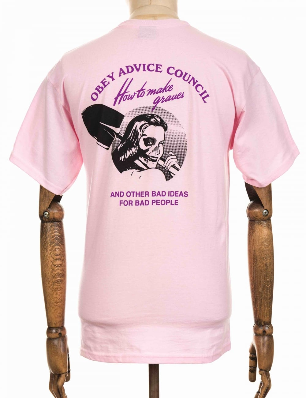 Obey Clothing How to Make Graves T-shirt - Pink - Clothing from ...