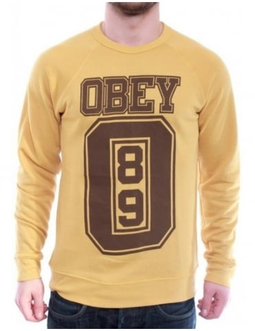 Obey Clothing Jersey Sweatshirt - Honey Gold