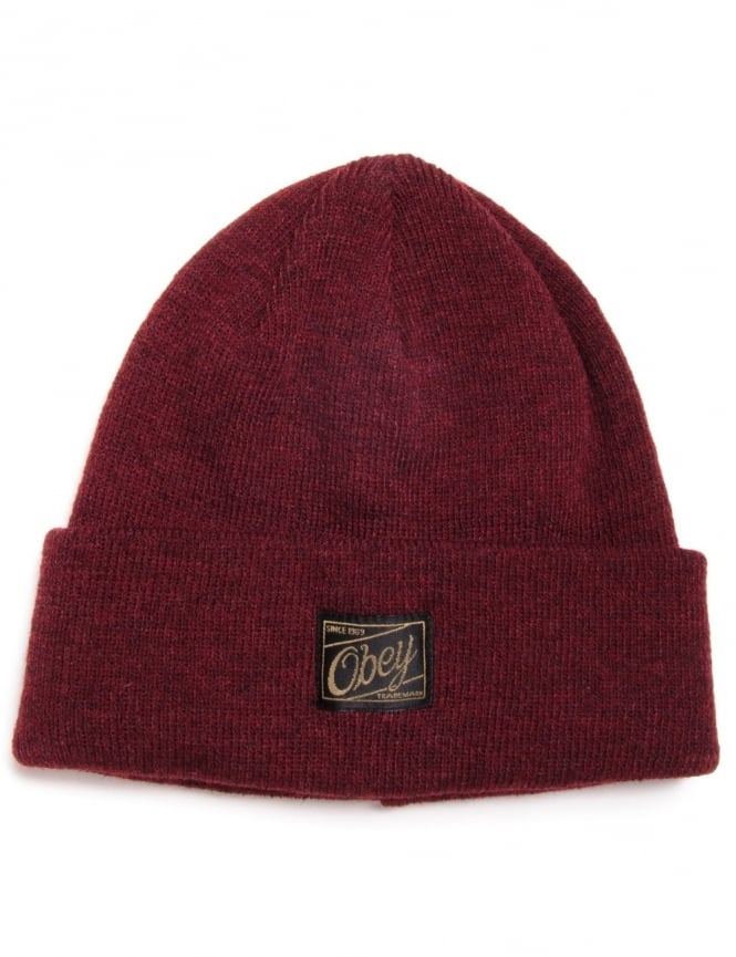 Obey Clothing Jobber Beanie - Heather Burgundy