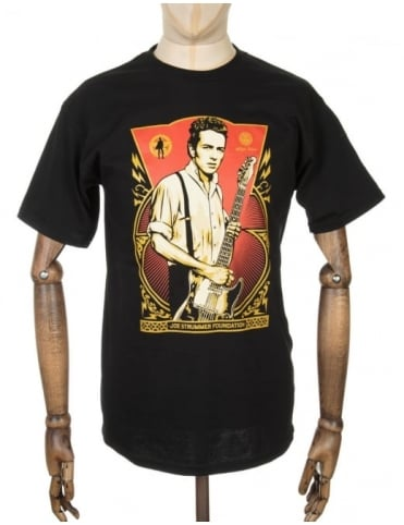 Obey Clothing Joe Strummer Foundation T-shirt- Black