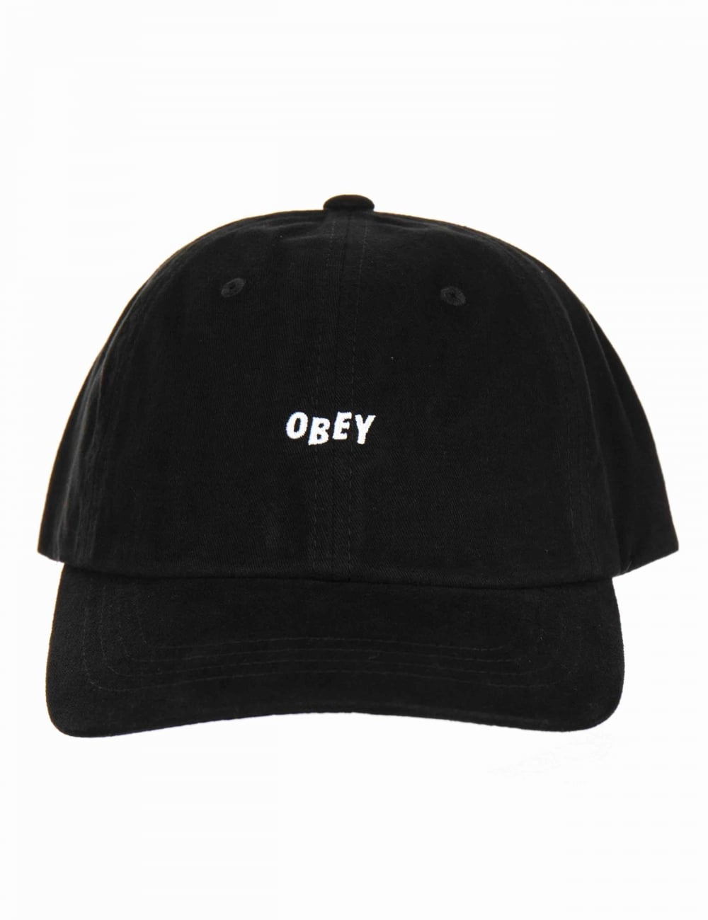 Obey Clothing Jumble Bar III 6 Panel Hat - Black - Hat Shop from Fat ... a41a323770c0