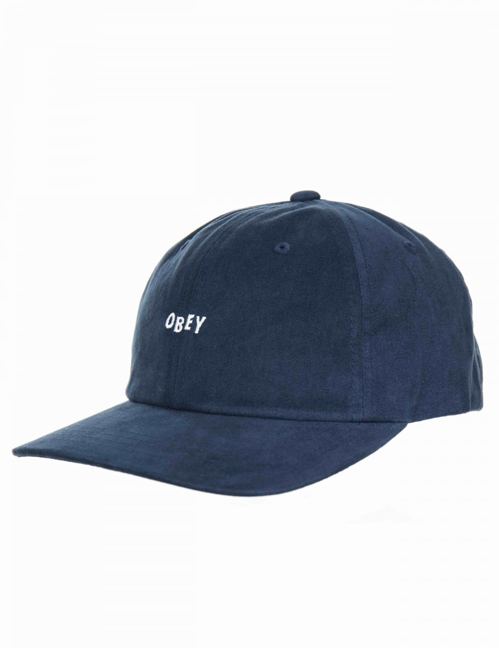 9d6771e5da92a Obey Clothing Jumble Bar III 6 Panel Hat - Navy - Hat Shop from Fat ...