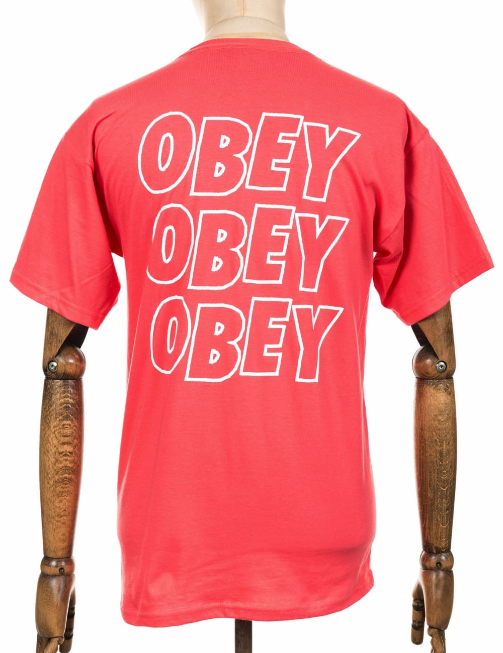 Obey Clothing Jumble Lo-Fi Tee - Coral - Clothing from Fat Buddha ... 5398d4eb285