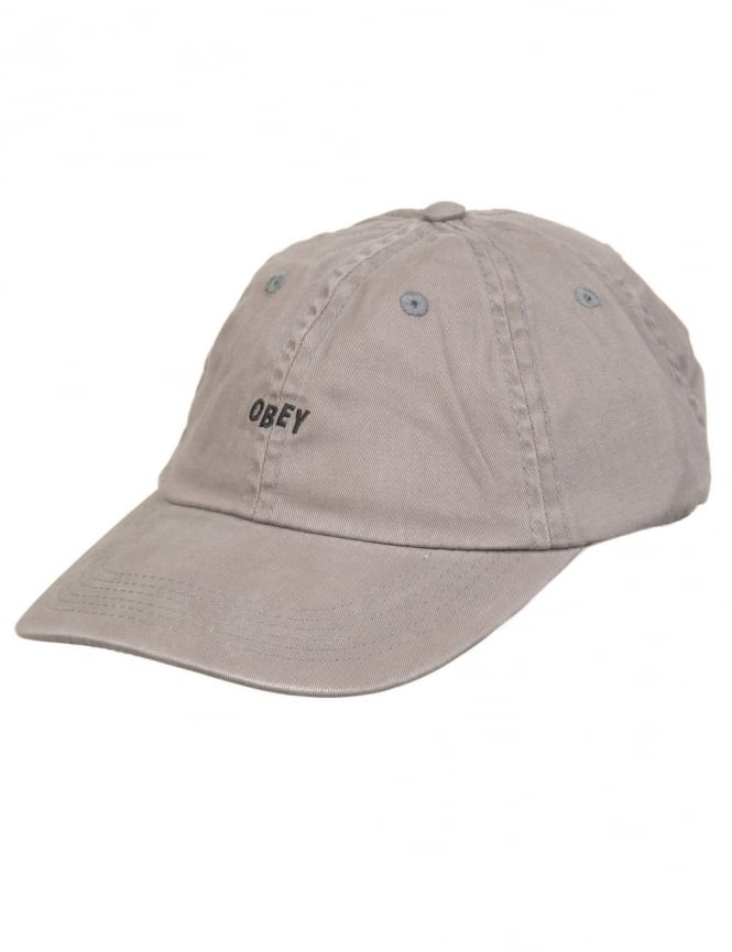 Obey Clothing Jumbled Bars 6 Panel Hat - Charcoal