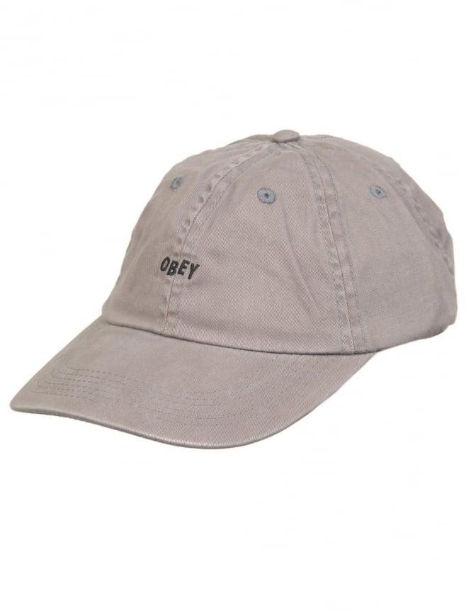 Obey Clothing Jumbled Bars 6 Panel Hat - Charcoal