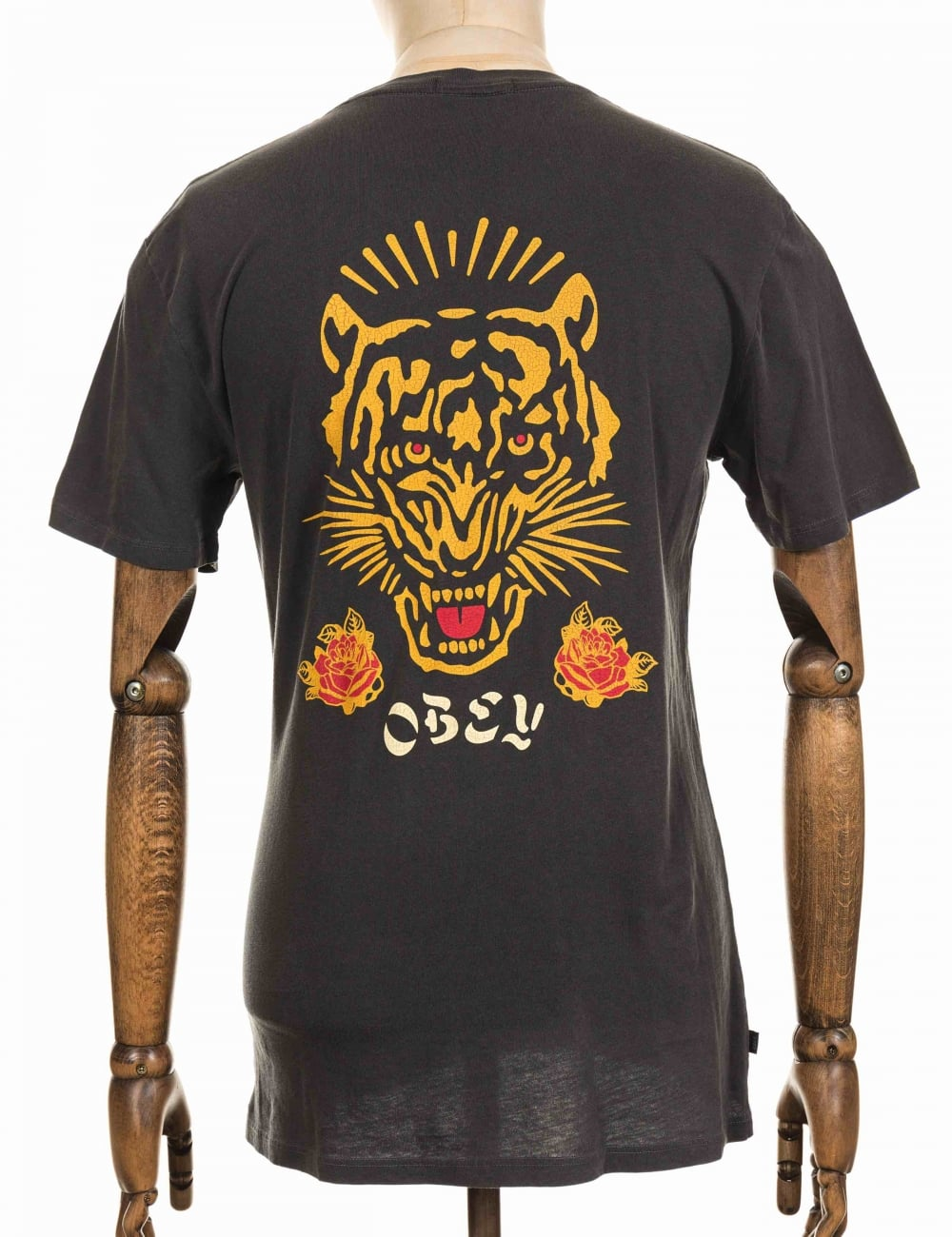 e3bd9bc4bde0 Obey Clothing Kiss Me Deadly Tiger T-shirt - Dusty Black - Clothing ...