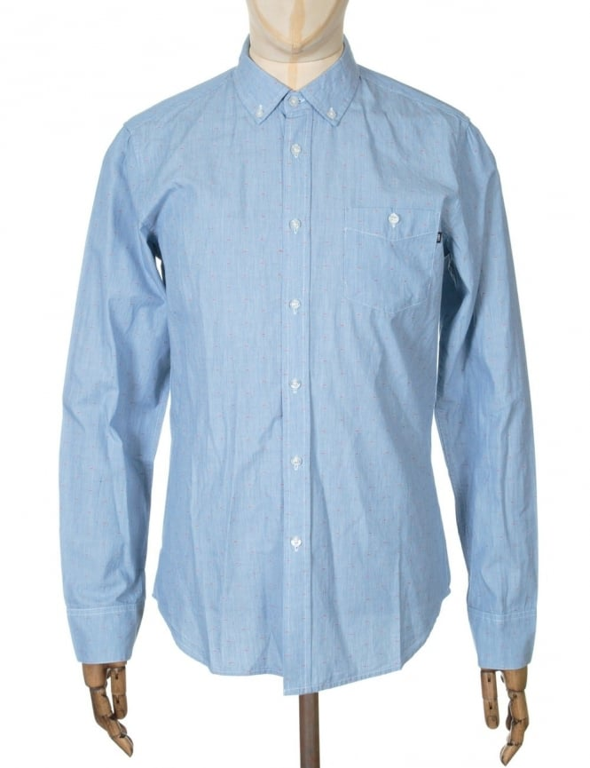 Obey Clothing L/S Arden Shirt - Blue Multi