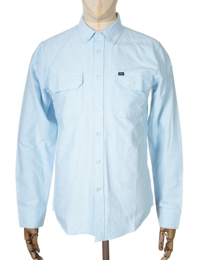 Obey Clothing L/S Banbury Shirt - Blue