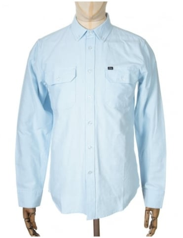 Obey Clothing L/S Banbury Shirt - Blue