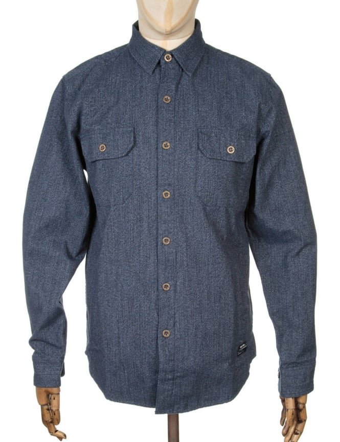 Obey Clothing L/S Gil Woven Shirt - Navy