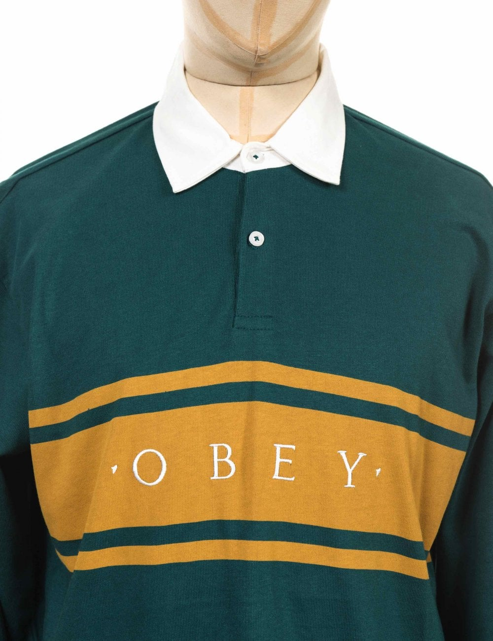 df6b5ce5 Obey Clothing L/S Hero Classic Polo Shirt - Dark Teal - Clothing ...