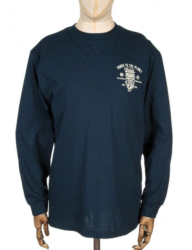 Obey Clothing L/S paint It Black T-shirt - Navy