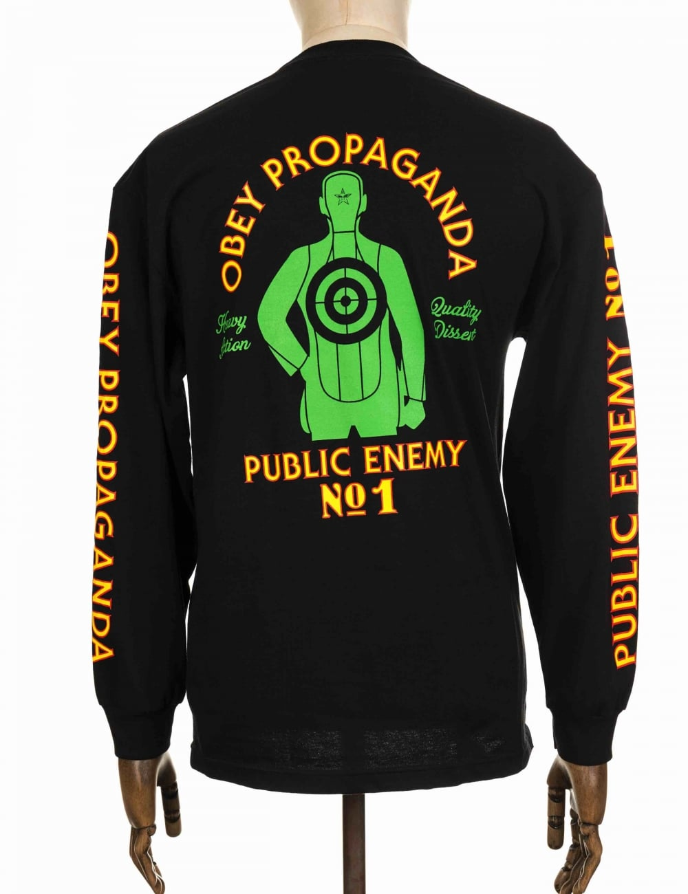 efb6a264 Obey Clothing L/S Public Enemy No.1 Tee - Black - Clothing from Fat ...