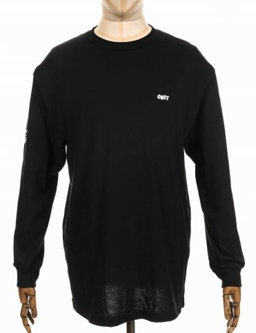 Obey Clothing L/S The Creeper Tee - Black