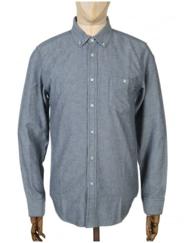 Obey Clothing L/S Wiseman Woven Shirt - Navy