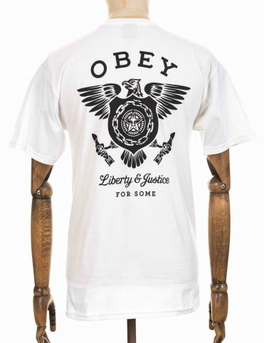 Obey Clothing Liberty & Justice Tee - White