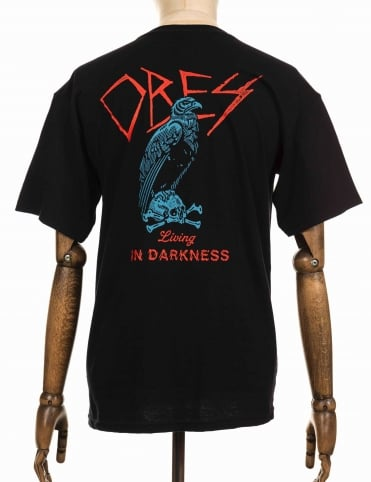 Living In Darkness T-shirt - Black