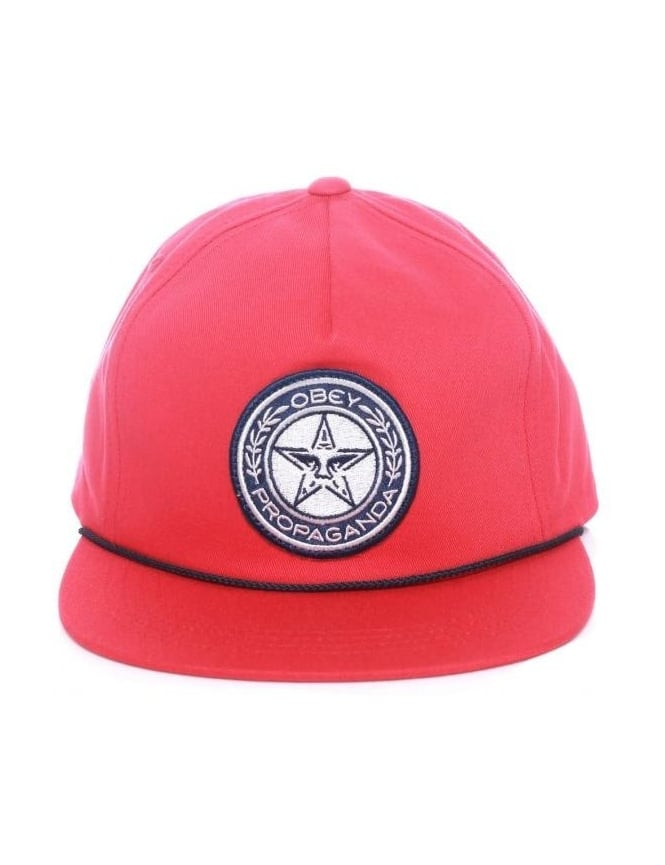 Obey Clothing Luxury Snapback Hat - Red