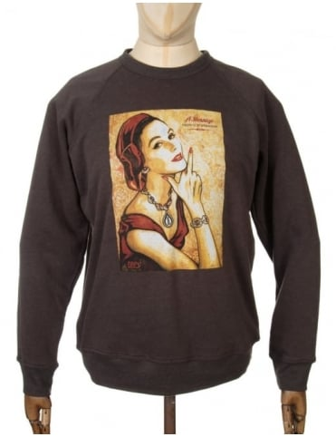 Obey Clothing Message from our Sponsor Sweat - Vintage Black