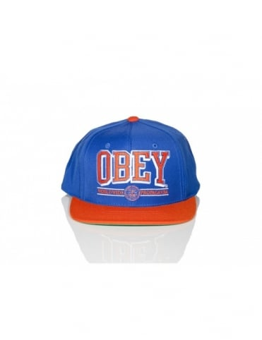 Obey Athletics SnapBack - Royal Blue/Orange