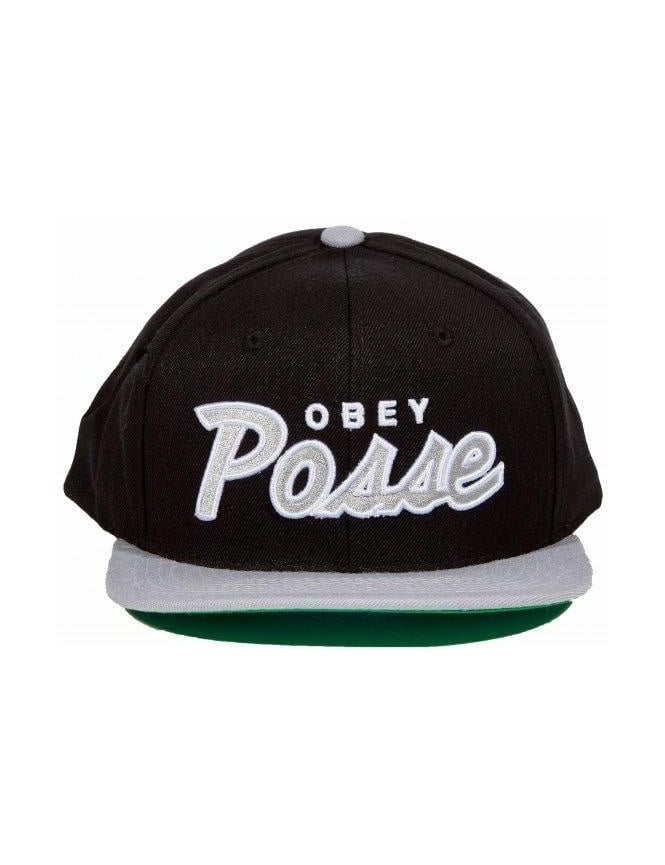 Obey Clothing Obey Posse Snapback - Black/Grey
