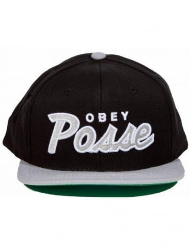 Obey Posse Snapback - Black Grey d2e5a5647d8d