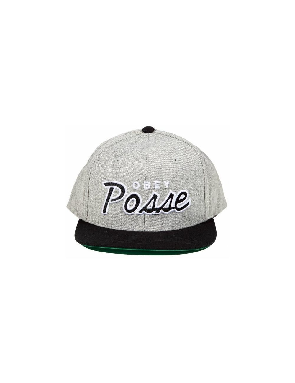 c662d5fdbcf Obey Clothing Obey Posse Snapback - Heather Grey Black - Hat Shop ...