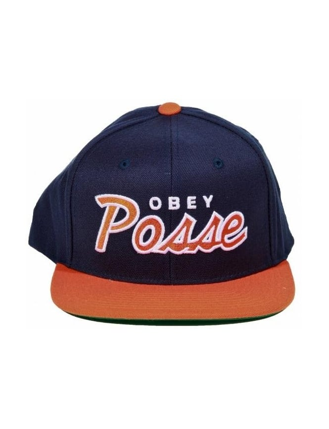 Obey Clothing Obey Posse Snapback - Navy/Orange