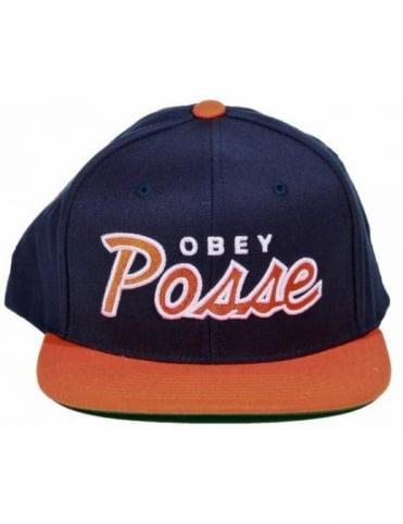 Obey Clothing Obey Posse Snapback - Navy/Orange
