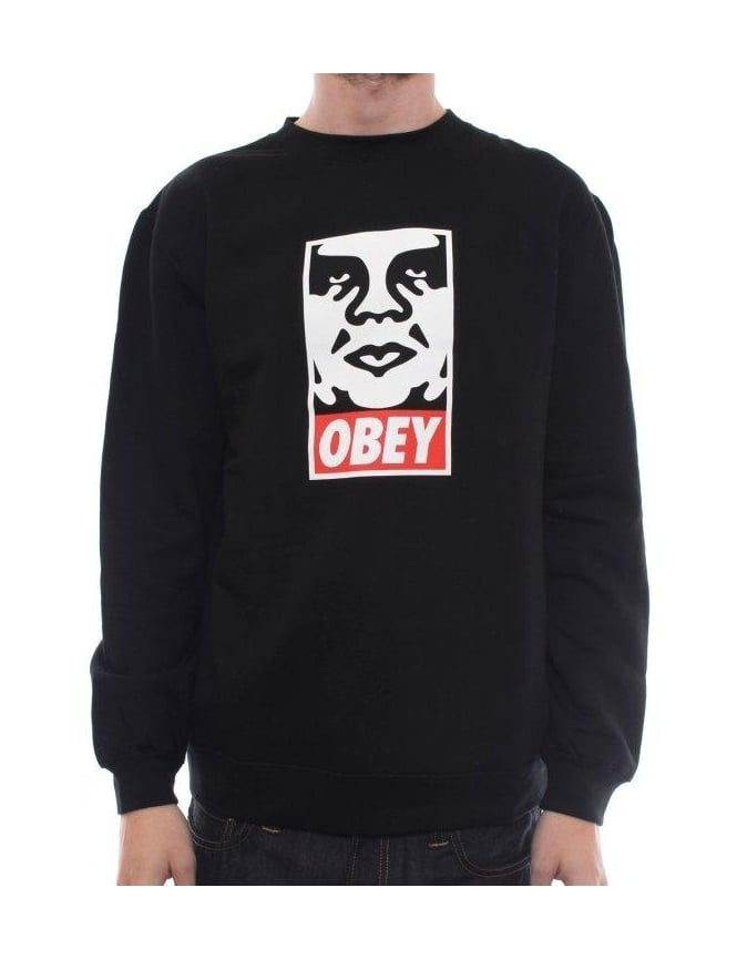 Obey Clothing OG Face Crew - Black