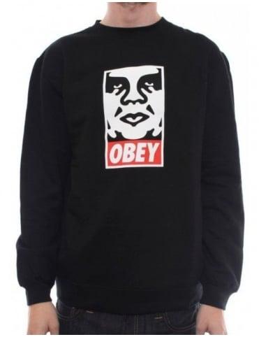 Obey Clothing OG Face Crew - Black