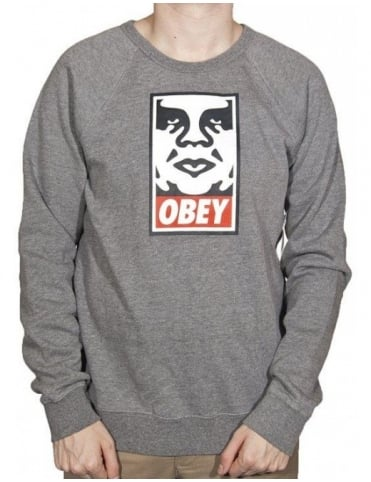 OG Face Crew - Heather Grey