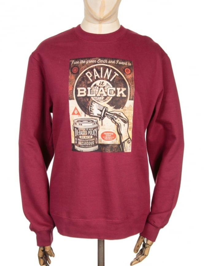 Obey Clothing Paint It Black Fine Art - Sweatshirt