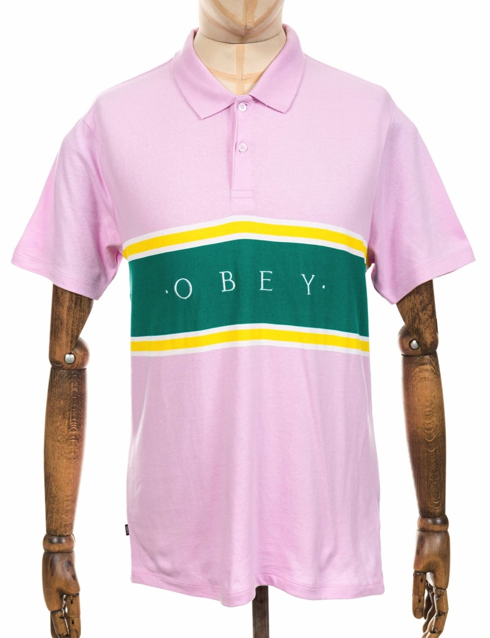 e799f478 Obey Clothing Palisade Polo Shirt - Pink - Clothing from Fat Buddha ...