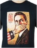 Obey Clothing Pay up or Shut up T-shirt - Navy